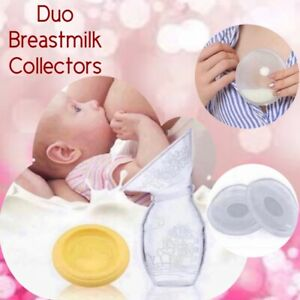 Silicone Manual Portable Breast Pump and Reusable Breast Shells Milk Collector