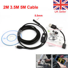 USB Endoscope Borescope Snake Inspection Camera Android Mobile Phone 2M 3.5M 5M
