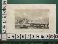 1831 Pugin Estampado ~ Chambers Of Deputies & Puente Louis XVI