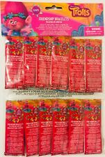 TROLLS FRIENDSHIP BRACELET KITS (12) ~ Birthday Party Supplies Favors Toy Crafts