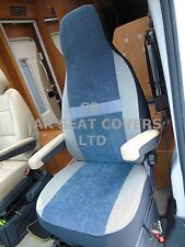 TO FIT A FIAT DUCATO MOTORHOME, SEAT COVERS, 2011, MH-179, BESSIE BLUISH GREY