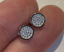 Superb Sterling Silver Earrings In Display Box