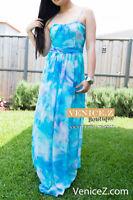 BNWT RRP$199.99 FOREVER NEW LENI Maxi Dress Blue Size 10 12 14