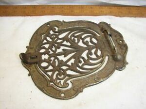 Ornate Cast Iron Wall Register Door Heat Grate Vent Grille Architectural Salvage
