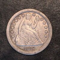 1842-O Seated Dime - High Quality Scans #D033