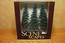 "BACHMANN SCENE SCAPES HO SCALE 5"" - 6"" BLUE SPRUCE TREES  6 TREES/BOX"