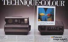 PUBLICITÉ 1987 POLAROID IMAGE SYSTEM TECHNIQUE COLOUR - ADVERTISING