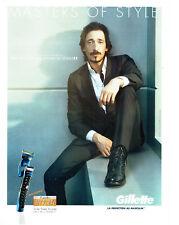 Publicité Advertising 078  2012  rasoir Gillette proglide styler & Adrian Brody