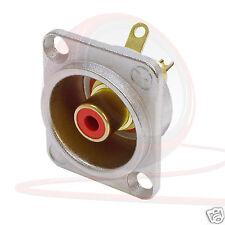 NF2D-2 encastré déséquilibrée Neutrik phono-nickel shell, châssis Connecteur ID rouge