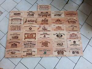 Lot de30 estampes bois façades caisse vin + 1 gratuitede 31 cm x 17 cm