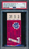 1968 Chicago Bears v Green Bay Packers Ticket Stub Wrigley Field 12/15/68 PSA 3