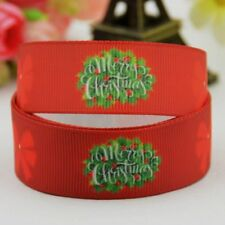 Party Decoration Ribbon Merry Christmas Printed Single Face For Home Accessories