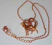 Copper + Crystal Hearts, Copper Greyhound Dog Silhouette, Copper Necklace