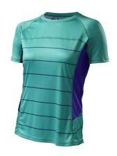 Specialized Andorra Comp Jersey Short Sleeve Womens - Em Green/Indigo - M - NEW