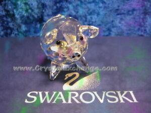 Swarovski Crystal Large Pig 011846.  Retired 1987.  includes box.