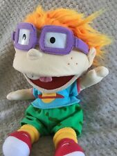 "Rugrats Chuckie Puppet Plush Doll Applause 1990s Vintage 14"" Nickelodeon"