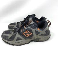 New Balance 481 Trail Running Shoes Men's Size 9.5 Black Gray Orange