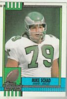 FREE SHIPPING-MINT-1990 Topps Mike Schad #100 EAGLES PLUS BONUS CARDS