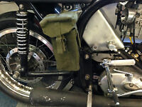1 Pair Motorcycle Ammo pouch Tool, Spares Carrier Biker Panniers custom cruiser