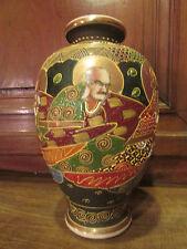 ancien vase japonais satzuma decor de personnages