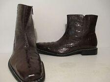 Giorgio Brutini Mens Canto 20020 Hornback Croco Print Dress Boot Brown Size 11 M