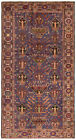 """Vintage Hand-Knotted Carpet 4'11"""" x 9'2"""" Traditional Oriental Wool Area Rug"""