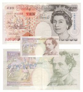 Bank of England £10 *ERROR* Banknote (colour printing fault on reverse)