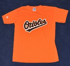MAJESTIC Baltimore Orioles #13 Baseball T-Shirt Jersey MEN'S LARGE L Orange vtg