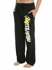 POKEMON GO PIKACHU MEN'S (UNISEX) LOUNGE PANTS SIZE SM NEW FREE USA SHIP BLACK