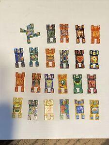 Vintage Hasbro Nak Nak Stacking Action Battle Figures - Lot of 22 block men toys