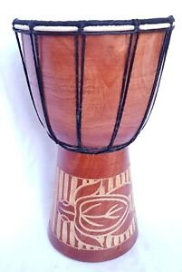 DJEMBE Bongo Hand DRUM 30 cm (H). Animal Designs.. Fun Size!