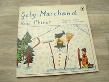 folk LP psych PRIVATE childrens GABY MARCHAND Voici Lhiver 1977 SWITZERLAND