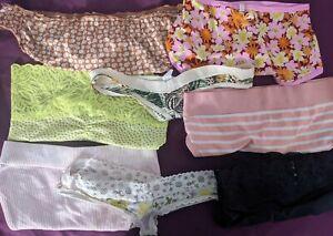 Cute cutter Lot 8 pairs Juniors panties  PINK, Aerie , sz XS , S Petite silky
