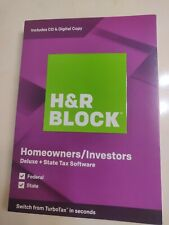 H&R Block Deluxe Tax Software + State 2019For PC/Mac Download Only