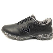 Callaway Coronado Sz 11.5 M (D) Golf Shoes CG100BM Black Gray Camo Leather