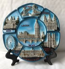 London 3d Showpiece Plate With Display Stand British Souvenir Gift