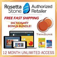 Rosetta Stone® LEARN ITALIAN HOMESCHOOL 12 Month 1-5 UNLIMITED + FREE DICTIONARY