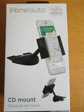 iHome/auto CD Car Mount for Smart Phones(Black) NEW