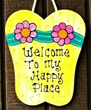 GOLD FISH WELCOME SIGN Wall Door Hanger Plaque Pool Deck Teacher Beach Kids Room