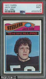 1977 Topps #140 Jack Ham All Pro Pittsburgh Steelers HOF PSA 9 MINT