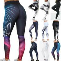 Women High Waist Yoga Sport Pants 3D Print Leggings Fitness Running Gym Trousers