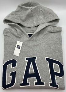 GAP KIDS Boys LOGO GRAY HOODIE SWEATSHIRT Size - XXL - 14-16  - NWT