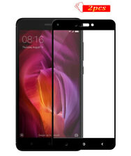 2 x Tempered Glass Screen Protector For Xiaomi Redmi Note 4X Full Cover