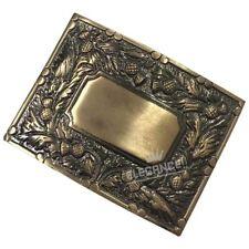 Mens Scottish Kilt Belt Buckle Deluxe Thistle Antique Finish/Celtic Belt Buckles