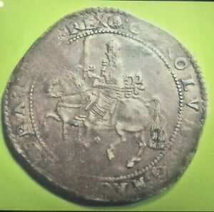 charles 1st crown Exeter Crown Not Dated Extremely Rare Nice