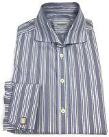 Burberry London Dress Shirt 15.5 Mens Long Sleeve French Cuffs Striped Men Sz 39