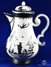 Meissen um 1720 Chinoiserie Kaffeekanne Augsburg Radiertes Silberdekor 18.Jh.