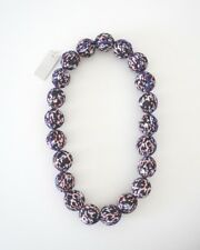 Hof115: cos collar patrón balas textil/fabric covered Necklace Balls Print