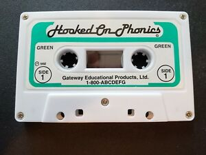 Hooked on Phonics. REPLACEMENT PART Cassette Tape GREEN 1988 - 1992