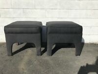 Pair of Stools Bench Ottoman Ming Parson Benches Seating Chair Hassock Footstool